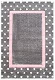 Tapis enfants Happy Rugs POINTS gris/rose 120x180 cm