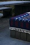 Tapis kilim berbère bleu tissé à la main en laine naturelle 100x60cm