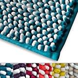 Tapis microfibre casa pura® absorbant doux et moelleux | sortie de douche | 6 couleurs | Manta, bleu et blanc ...