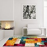Tapis Modern Designer Salon Mouton Chambre Esprit Patchwork multicolore, multicolore, 160 cm_x_230 cm
