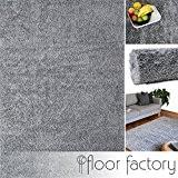Tapis Moderne Colors gris argent 80x150cm - tapis shaggy longues mèches au prix super bas