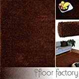 Tapis Moderne Colors marron 160x230cm - tapis shaggy longues mèches au prix super bas