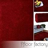 Tapis Moderne Colors rouge/bordeaux 120x170cm - tapis shaggy longues mèches au prix super bas
