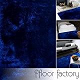 Tapis Moderne Delight bleu 200x290cm - tapis noble soyeux, satiné et tout doux