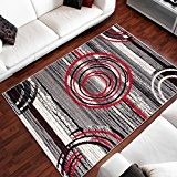 Tapis Moderne Design Des Pierres Cercles Differentes Dimensions (160 x 230 cm)