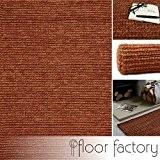 Tapis Moderne Naturel Jute rouge 200x290cm - tapis tissé à la main en 100% fibre naturelle