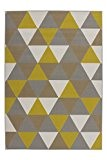 Tapis Moderne Shaggy Geometr. Motif Triangle Effet 3D Multi Or Offre - or, 160cm x 230cm