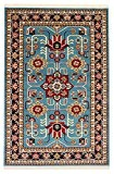 Tapis Persan Mehraban Bleu 150x 100cm 4.9x 3.3M Tapis traditionnel