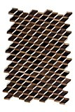 Tapis Rebel 110 Brown 160cm x 230cm 100% fait main en cuir