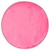 Tapis rond Velours - Diam. 90 cm. - Rose