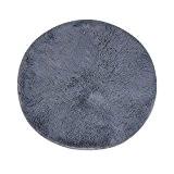 Tapis rond, YTAT Super Doux Chenille en fibre ronde Zone Shaggy tapis et moquette assis chambre Home Tapis, Anti-dérapage, étanche ...