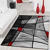Tapis SALON Tapis Porto contours découpés dans gris rouge noir ausverkauf, 80x150 cm