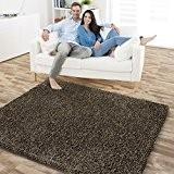 Tapis shaggy casa pura® Mistral en marron   tailles diverses, classe confort 4   certifié GUT + cachet Blauer Engel ...