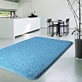 Tapis shaggy casa pura® poil long en bleu clair   tailles diverses   certifié GUT / PRODIS - cachet Blauer ...