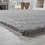 Tapis Shaggy Haut Poil Long Poil Qualité et prix abordable En Gris, Dimension:140x200 cm
