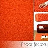 Tapis shaggy longues mèches Candy orange 120x170 cm - tapis de salon au prix discount