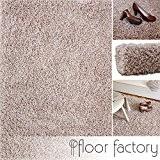 Tapis shaggy longues mèches Loca beige 120x170cm - tapis de salon au prix avantageux