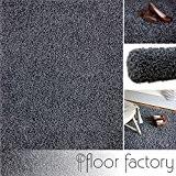 Tapis shaggy longues mèches Loca gris 200x290cm - tapis de salon au prix avantageux