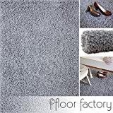 Tapis shaggy longues mèches Loca gris argent 160x230cm - tapis de salon au prix avantageux