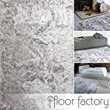 Tapis Shaggy longues mèches Prestige gris argent 140x200 cm - tapis doux à poils extra longs