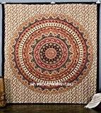 Tapisserie à suspendre/couvre-lit hippie mandala indien vintage