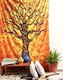 Tapisserie Arbre De Vie jaune Tapestry hippie bohème tenture boheme murale indienne hippi wall hanging decoration by Rajrang