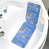 Tatkraft Dolphin Tapis Antiderapant Bleu pour Baignoire et Cabine de Douche PVC 36X124cm