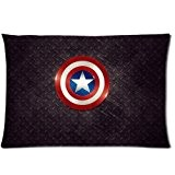 The Avengers Captain America Shield Custom Zippered Pillow Cases Cover 20x30 (Two sides)