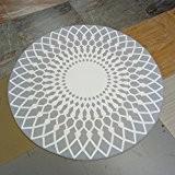 Thibaude Indoor Salle de séjour ronde élégante Tapis Couleur Tapis de sol, tapis de sol ( couleur : 1 , ...