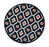 Think Rugs Tapis loloi terchtc08nvor300r terrasse Intérieur/Extérieur Tapis rond Zone, longueur du 0-inch par Longueur du 0-inch, bleu marine/orange par ...
