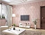 Tissus non-tissé minimaliste moderne d'écran plat canapé Chambre fond Papier peint 0.53m*10M,rose pâle