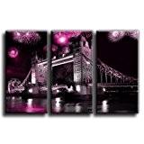 Toile Culture–London Bridge Impression sur toile Art Cadre Photo Boîte à bec 10, rose, 90x60cm (3x60x30cm)