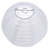 "TOOGOO(R) Blanc chinois / japonais Lanterne en Papier / Lampe 8"" Diametre"