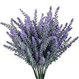 Turelifes 4pcs artificielle floqué Bouquet de lavande en fleurs violettes, violet foncé, 1