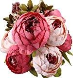 Turelifes vintage Rose artificielle Pivoine Slik Bouquet de fleurs pour mariage Décoration de la Maison