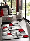 Un Amour de Tapis 30047 Brillance Ultimate Tapis de Salon Moderne Polypropylène Rouge 120 x 170 cm