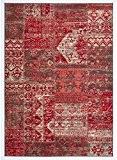 Un Amour de Tapis 36706 BC Patchwork Tapis pour Salon Polypropylène Rouge 120 x 170 cm