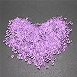 ungfu Mall 1000pcs 4,5mm Table Cristal Diamant Acrylique Cristaux Diamants Mariage Décoration, Résine acrylique, Light Purple