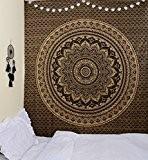 Unique Collection or noir Mandala Ombre originale par rawyalcrafts indien Tapisserie hippie, reine Mandala mur tapisserie Home Decor, pensée magique ...