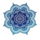 Unique Collection par rawyal Crafts Grand Rond Fleur de Lotus Mandala Tapisserie, indienne Hippie 100% coton Floral Star Mandala Plage ...