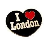 Unique Fond Noir en émail et métal I Love London anglais, Londres, Angleterre UK Aimant Souvenir /! Souvenir mémoire/de virement ...