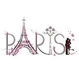 UQ Sticker mural Autocollant Amovible Creative DIY Décoration murale PARIS