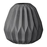 Vase Bloomingville, à cannelures, Porcelaine, Noir