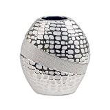 Vase rond décoratif moderne, Chrome Line, H 21 cm