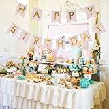 Veewon Happy Birthday Guirlande fanions Fête d'anniversaire en Drapeau bannière Décoration à suspendre