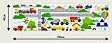 Véhicules Cars Planes Transport Enfants Stickers muraux enfants Chambre Art Mural 209, multicolore, 42cm/150cm