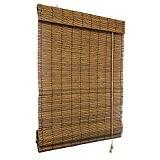 VICTORIA M Store anti-regard en bambou 150 x 220 cm marron