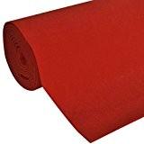 vidaXL Tapis rouge 1 x 5 m