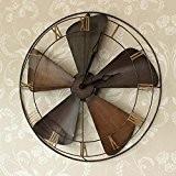 Vintage Style industriel ventilateur Horloge murale