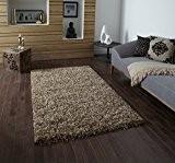 Vista Shaggy tapis lavable en machine Fabriqué en 100% polypropylène Grand tapis de sol–Beige (différentes tailles), beige, 120 x 170 ...